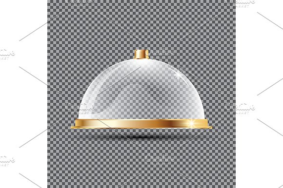 Glass Dome on Transparent Background