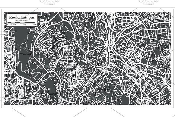 Kuala Lumpur Malaysia City Map