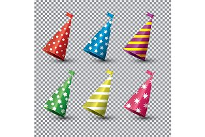Party Hat Isolated Set