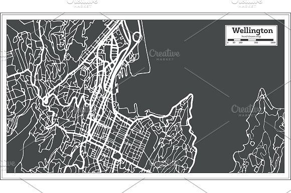 Wellington New Zealand City Map