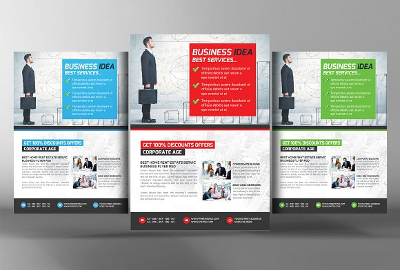 business training flyer flyer templates creative market