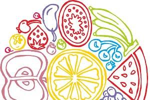 fruit coaster doodle