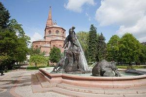 The Deluge Fountain in Bydgoszcz