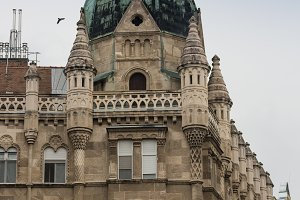front view of building Budapest, Hungary