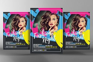 Fashion Night Glamour Flyer Psd