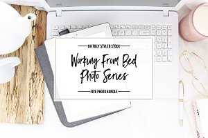 Working from Bed  Photo Bundle S1