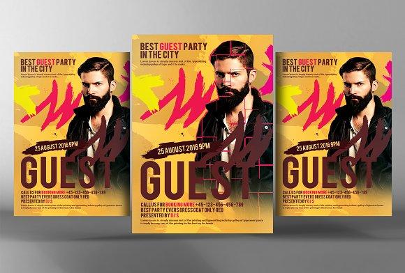 Guest Dj Night Flyer