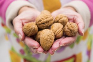 hands with nuts