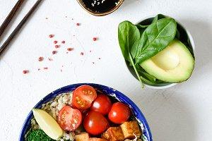 Vegetarian buddha bowl