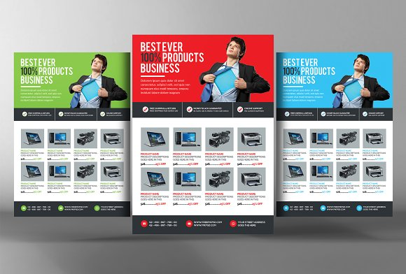 Product Flyer Template Flyer Templates Creative Market - Product brochure template