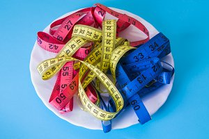 Diet and slimming concept, tape meas