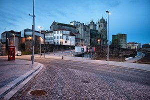 City of Porto in Portugal at Dawn