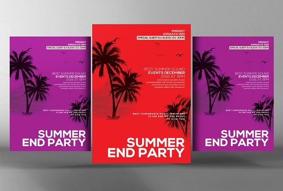 Summer End Party Flyer
