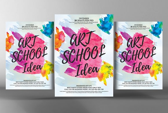 Watercolor Art Flyer Template