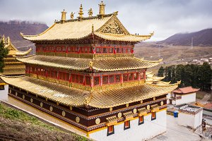 Tibetan Buddhist monastery in China