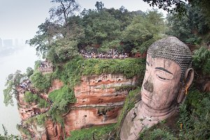 The largest stone Buddha in China