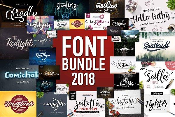 Best FONT BUNDLE 2018 Vector