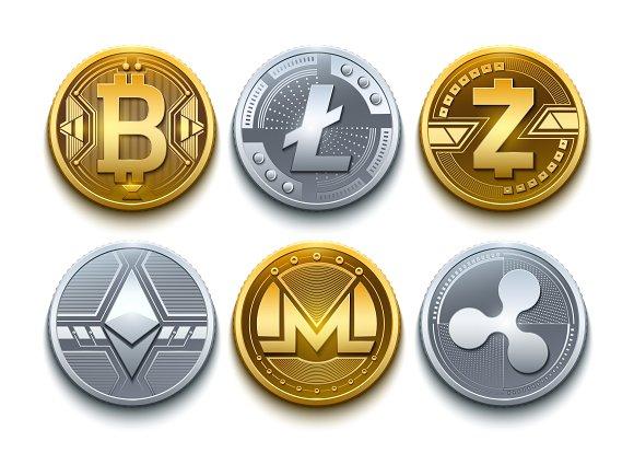 Vector bitcoin realistic cryptomoney