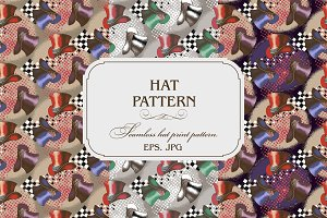 Pattern of cylinder hat
