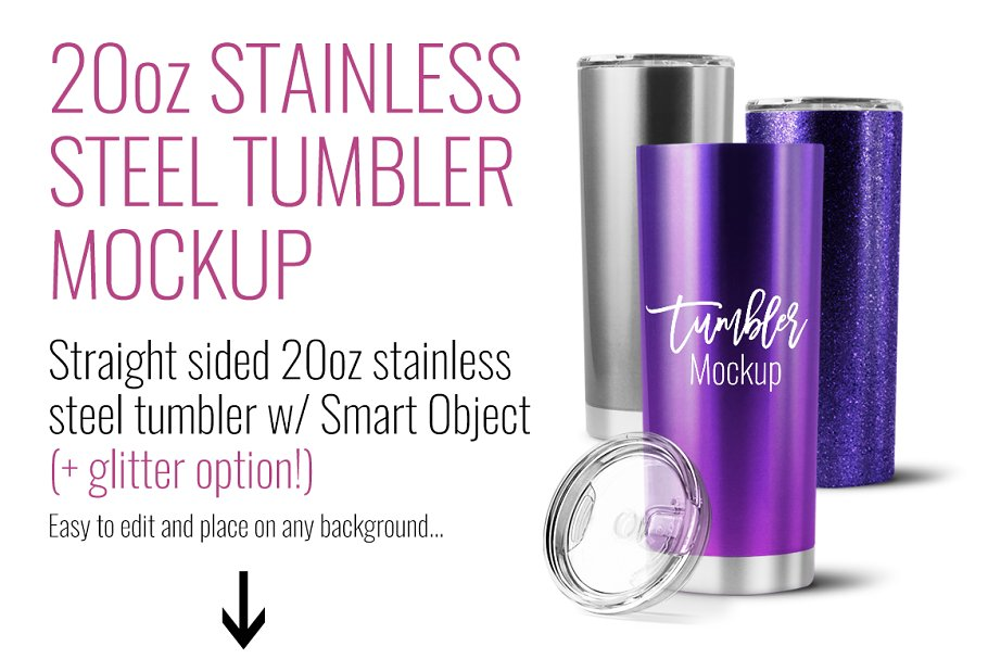 20oz Stainless Steel Straight Sided in Templates - product preview 6