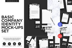 Basic Company Identity Mock-ups Set