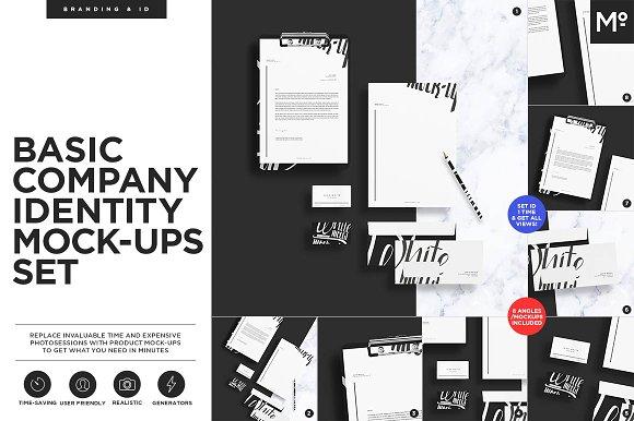 Basic Company Identity Mock-ups Set