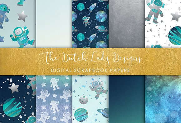Galaxy Space Pattern Scrapbook Paper Graphic Patterns Creative