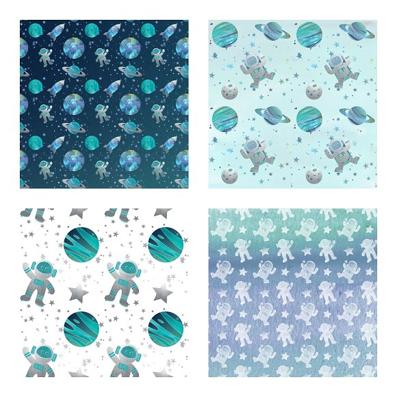 Galaxy Space Pattern Scrapbook Paper Patterns Creative Market