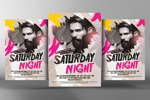 Dance Music DJ Flyer Template