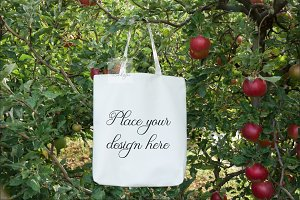Tote bag vegan Mockup totes template