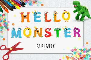 Monsters Alphabet - Vector Clipart