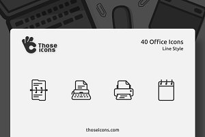 40 Office Vector Line Icon