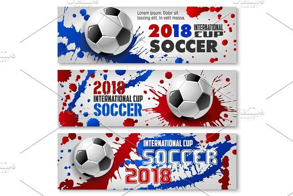 Soccer Ball Banners For Sport Competition