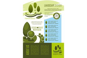 Landscape design business banner template