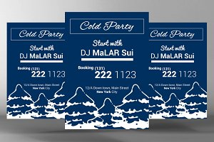 Winter DJ Party Flyer