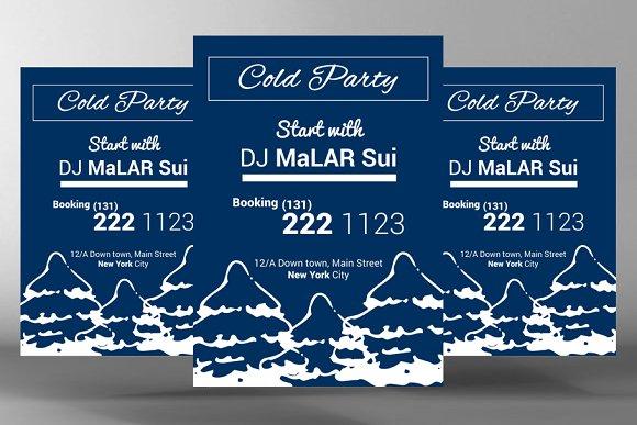 Winter DJ Party Flyer