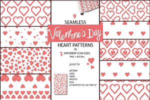 Valentine's dream seamless patterns