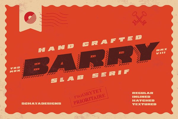 Slab Serif Fonts: ochaya designs - Barry | 4 Font Styles