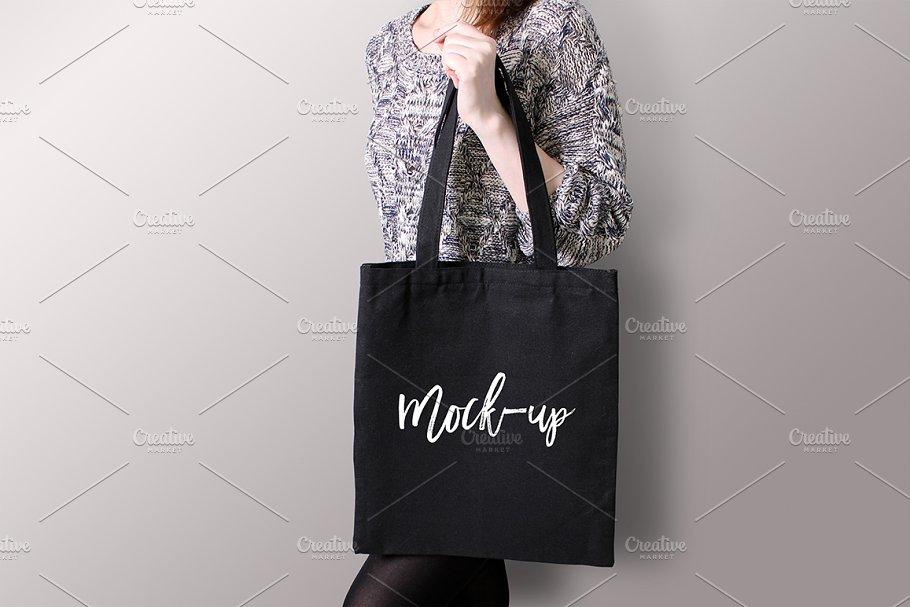 c7e10c0f Black tote bag Mockup #5 ~ Product Mockups ~ Creative Market