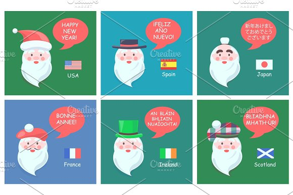 Congratulations with New Year in Foreign Languages