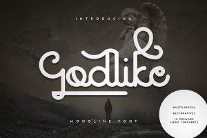 Godlike font + Logo Templates -30%