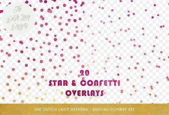 Star Confetti Overlay Clipart
