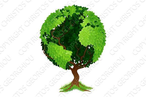 Tree World Globe Earth Concept