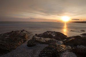 The calm sea