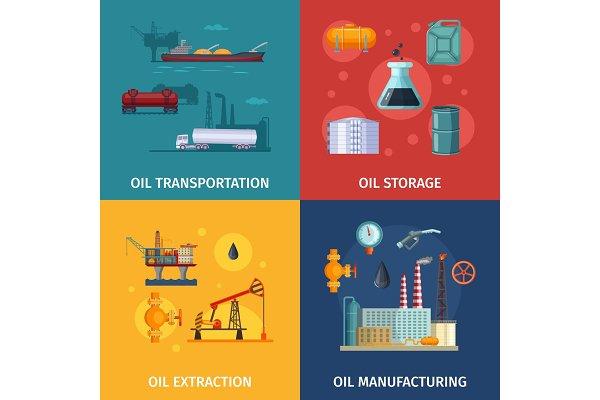 Concept pictures of oil manufacturi…