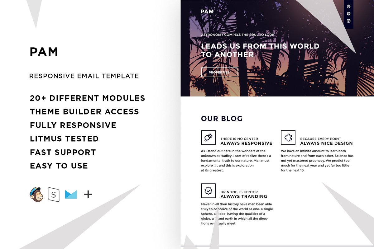 Pam – Responsive Email template