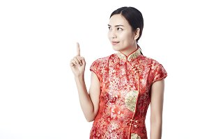 Chinese Woman in Chinese Dress