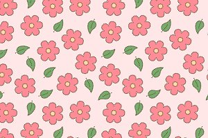 Sakura flowers seamless pattern