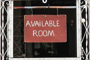 Room available inscription