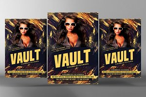 Vault Mix Party Flyer